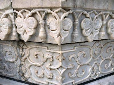 タージマハルの大理石彫刻